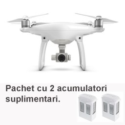 Drona DJI Phantom 4 cu doi acumulatori suplimentari