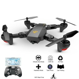 Drona Visuo XS809HW Camera 2Mp cu transmisie pe telefon, altitudine automata, brate pliabile