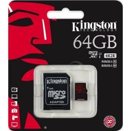 MicroSDXC Kingston 64GB 4K Ultra HD 80MB/s