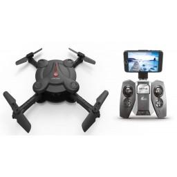Drona iDrone cu brate pliabile camera Wifi si radiocomanda - negru