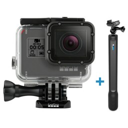 Pachet GoPro HERO6 Black  cu carcasa (Uber Protection + Dive Housing) si GoPro Monopied El Grande