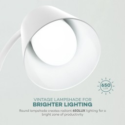 Lampa de birou LED VAVA VA-DL29, 3 modri de lumina, cu reglare touch a Intensitatii