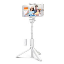 Selfie Stick Tripod BlitzWolf 3 in 1 cu Telecomanda Bluetooth detasabila - Alb