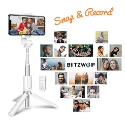 Selfie Stick Tripod BlitzWolf 3 in 1 cu Telecomanda Bluetooth detasabila